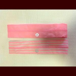 Lululemon Pink Headband Set of 2